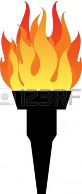 Olympic Torch 2014 Clipart.