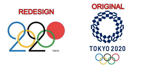 Whoever redesigned the tokyo\'s 2020 olympics logo is.