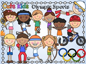 Olympic Sports Cute Kids Clipart.