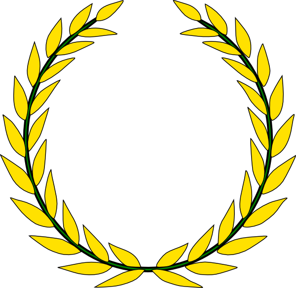 Olive Wreath Olympics Clipart.