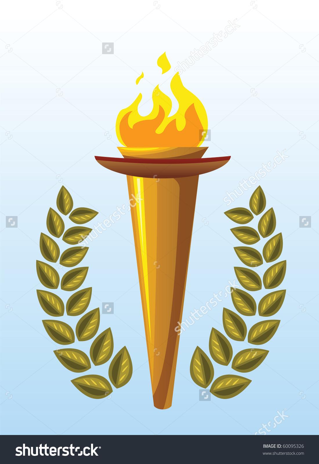 Olive Wreath Olympics Clipart.