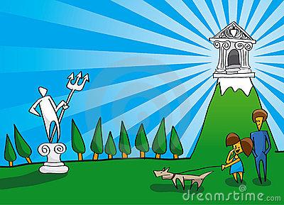 Cartoon Olympus Stock Illustrations.