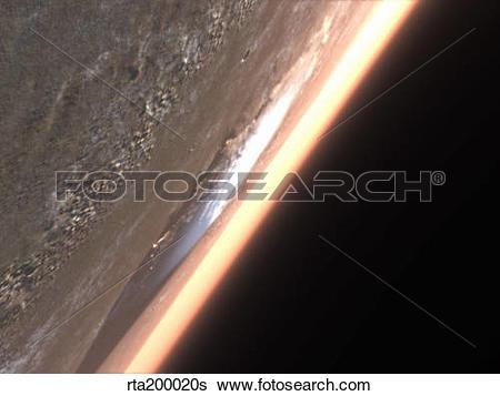Stock Illustration of Terragen render of Olympus Mons on Mars.