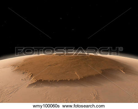Stock Illustration of Artist's concept of the northwest side of.