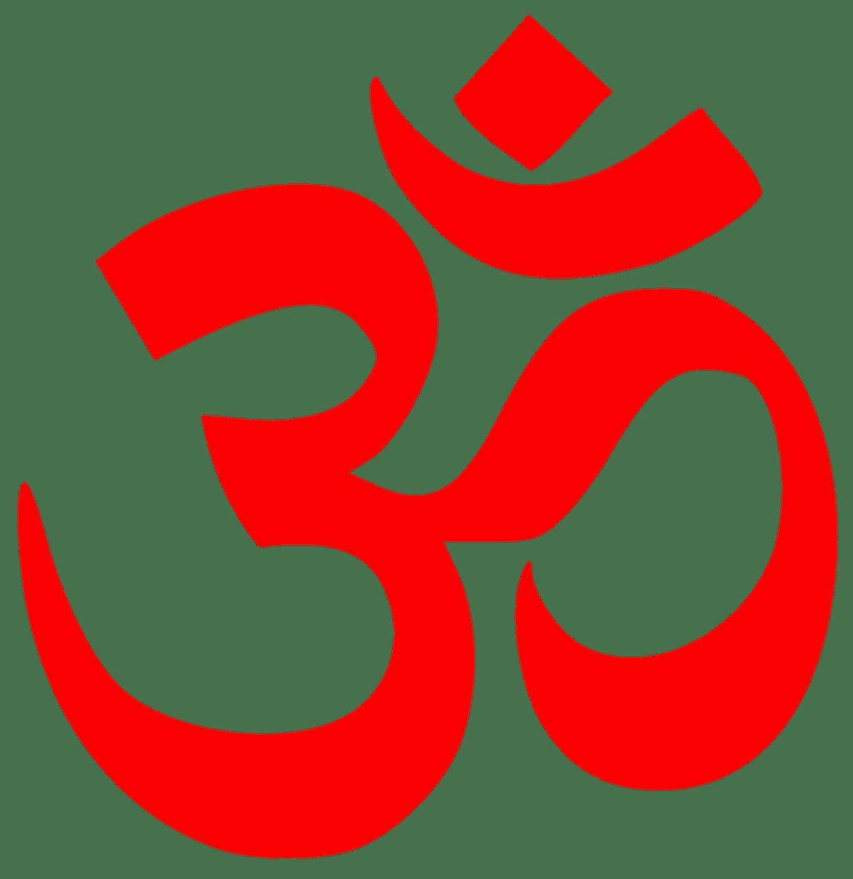 Mantra Om Red transparent PNG.