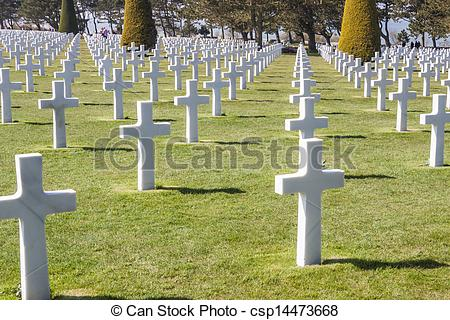 Stock Image of Military cemetery.