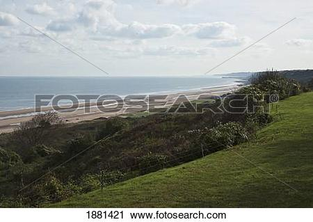Stock Photography of omaha beach; saint.
