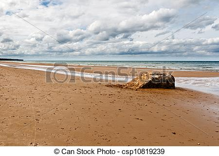 Stock Photos of Omaha Beach, one of the D.
