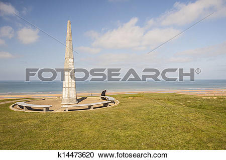 Stock Photography of The 1st infantry division monument near Omaha.