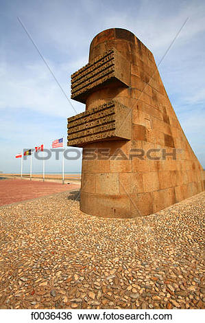Stock Images of France, Normandy, Saint Laurent sur Mer, Omaha.