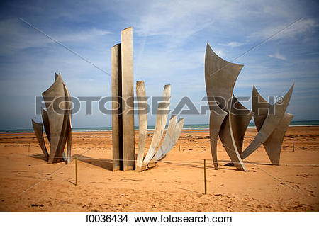 Stock Photo of France, Normandy, Saint Laurent sur Mer, Omaha.