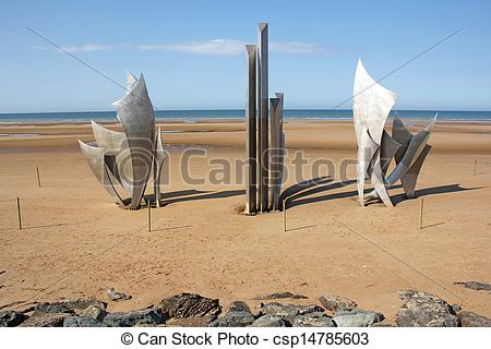 Stock Photography of Omaha Beach.
