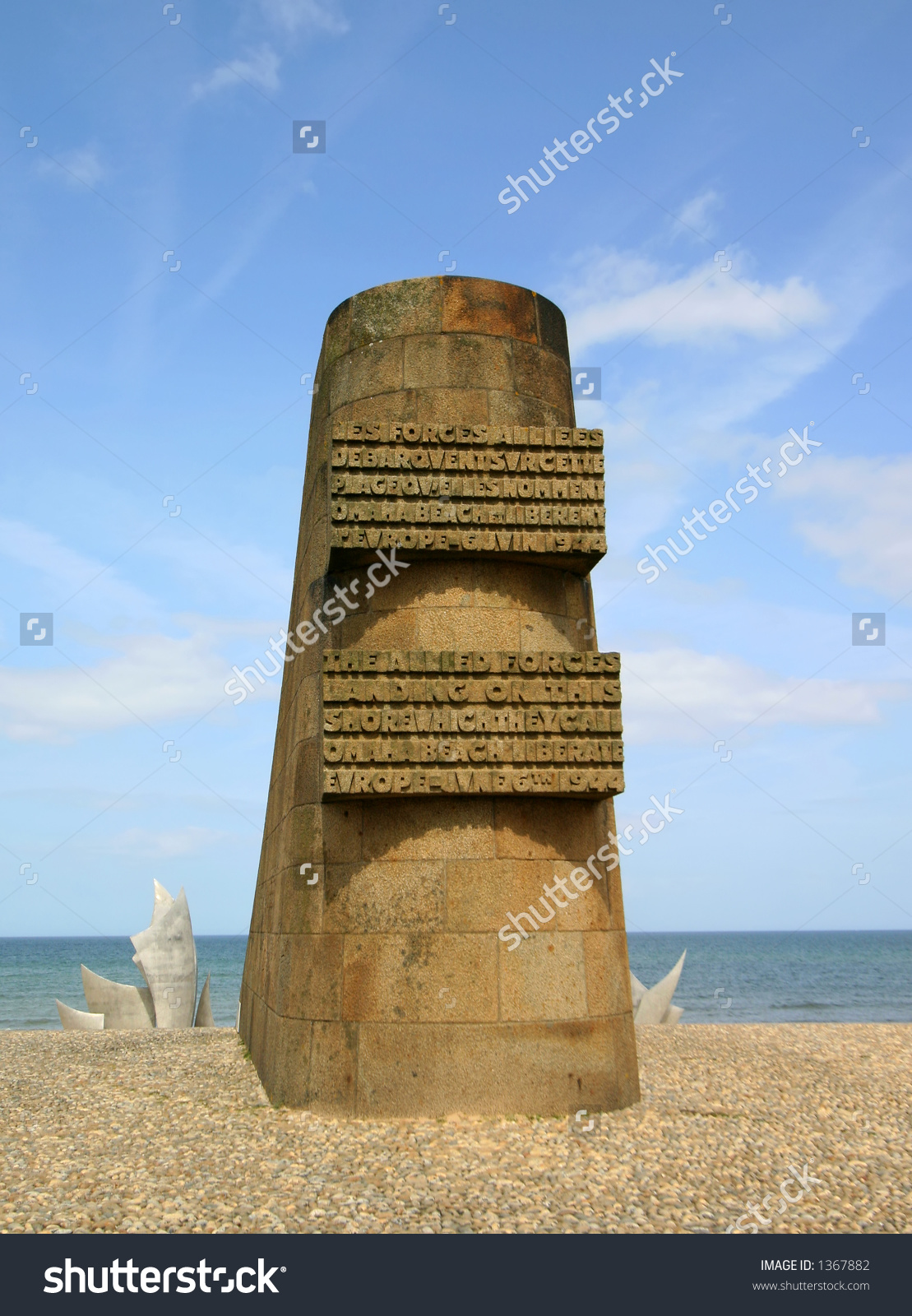 Memorial At Omaha Beach.
