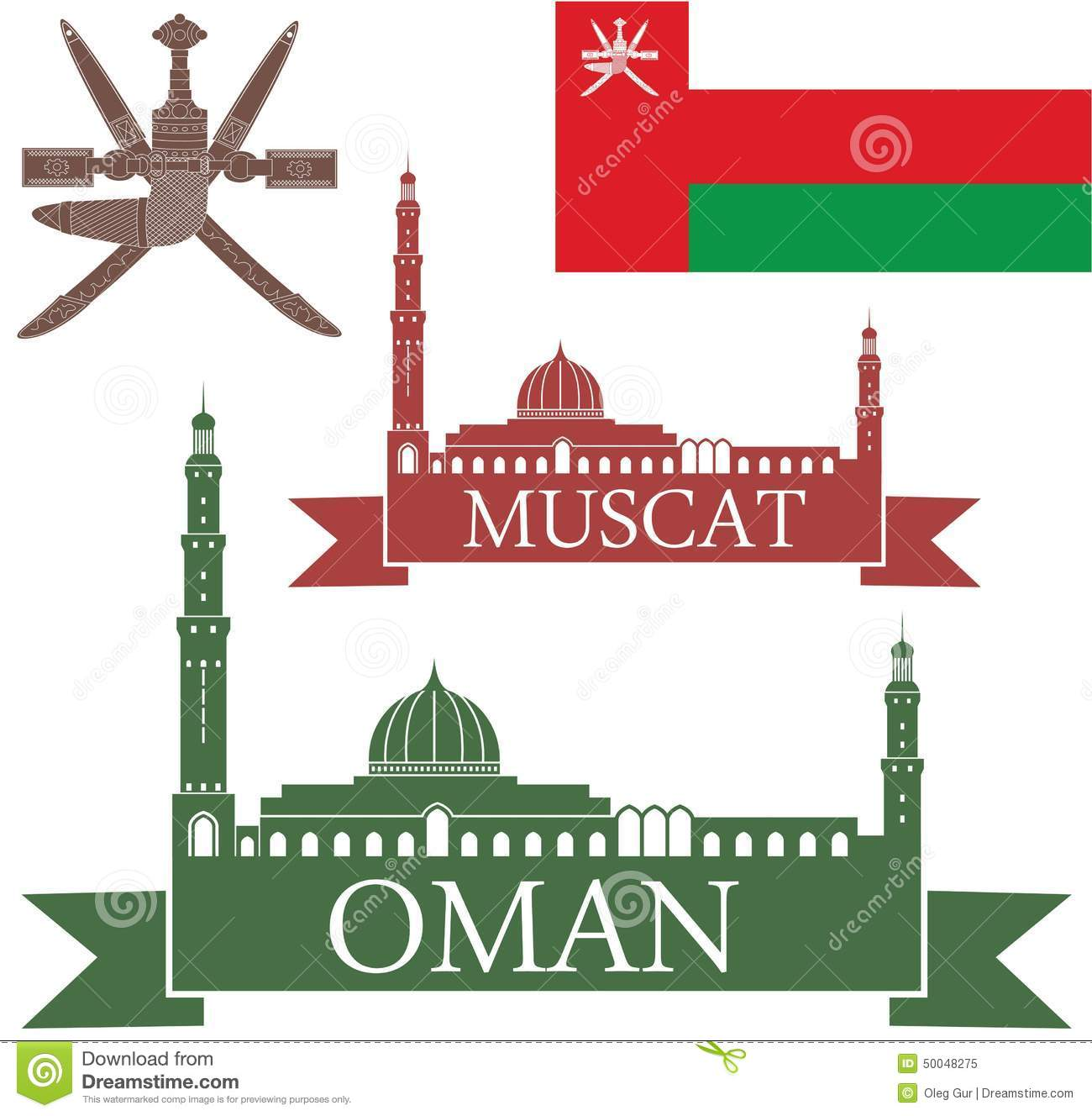 Muscat Stock Illustrations.