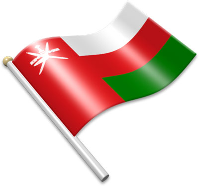 Flag Icons of Oman.