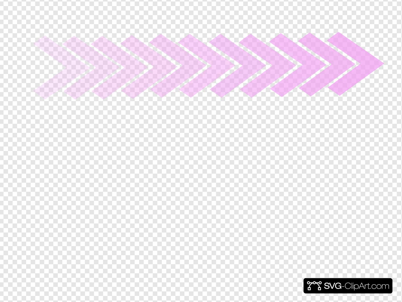 Pink Ombre Chevron Arrow Clip art, Icon and SVG.