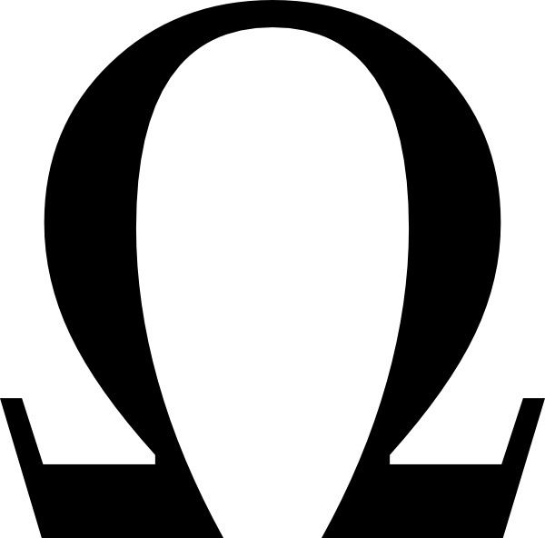 Greek Omega Small clip art Free vector in Open office drawing svg.