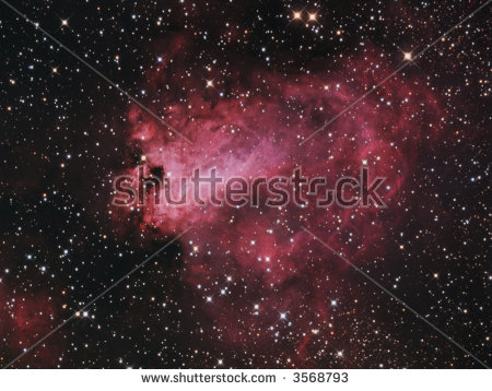 Flaming Star Nebula Emissionreflection Nebula About Stock Photo.