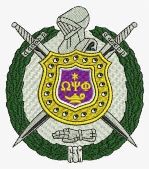 Omega Psi Phi Shield PNG, Transparent Omega Psi Phi Shield.