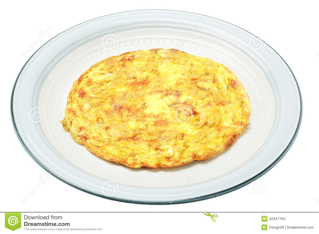 Egg With Omelet Stock Vector.