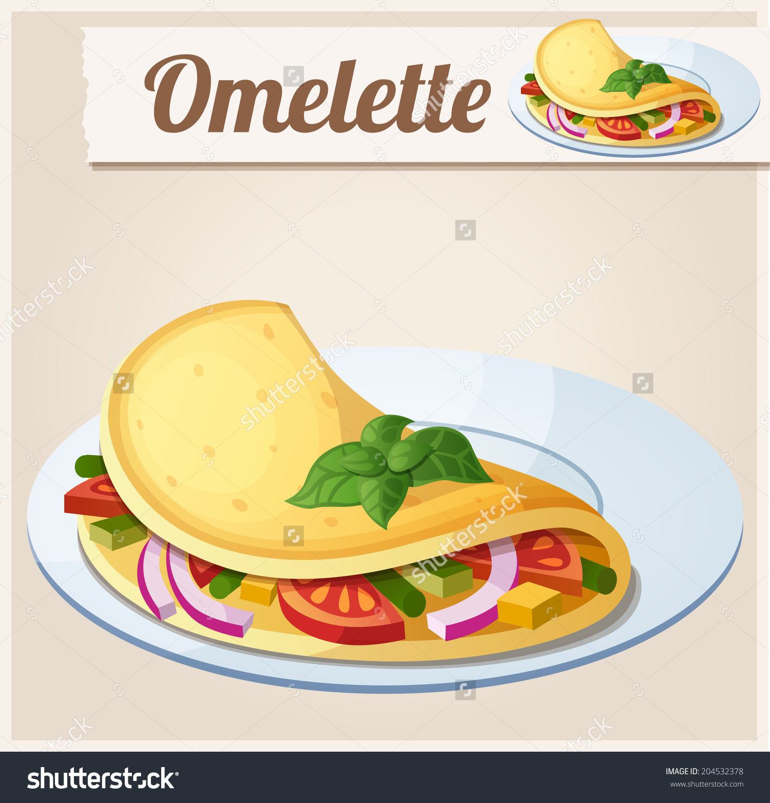 Omelette clipart black and white.