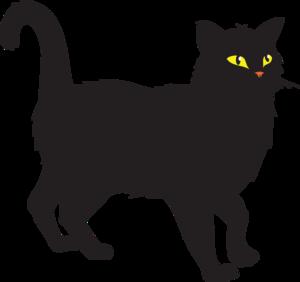 Clip art black cat.