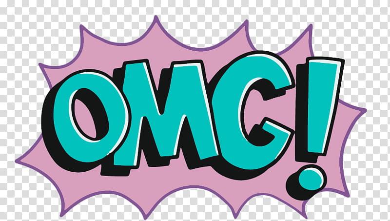I M A COMIC , OMG illustration transparent background PNG.