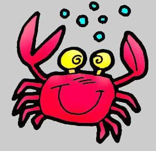 Cartoon Crab Clipart.