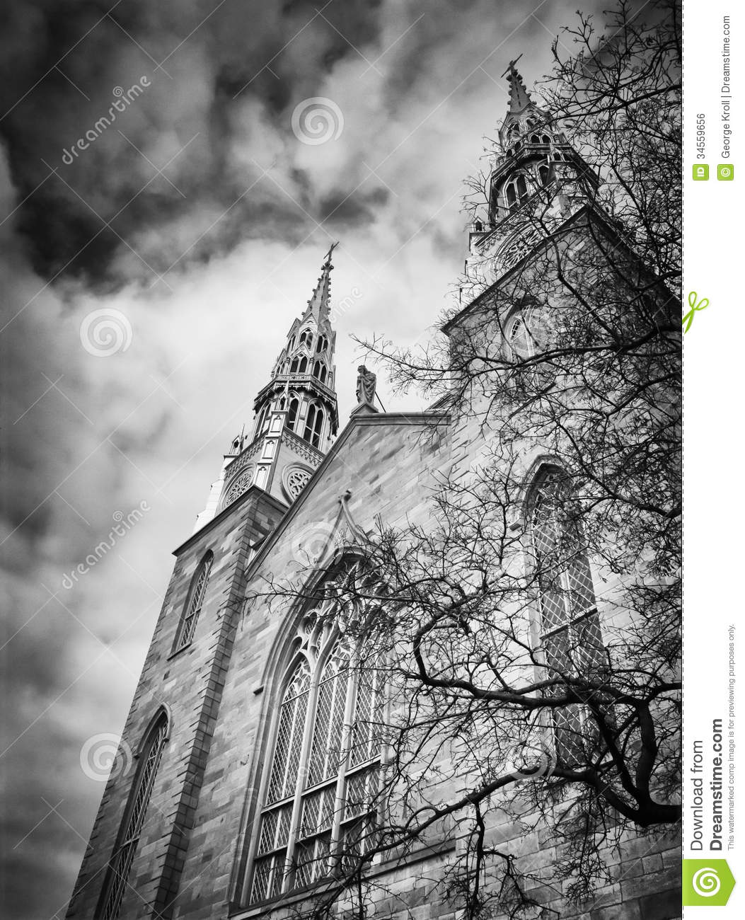 Dark, Imposing And Ominous Church Image Royalty Free Stock Image.