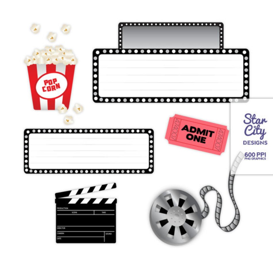 Movie Clip Art Clipart Vector Graphics For Personal free image.