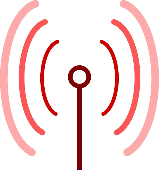 Omnidirectional Antenna clip art Free vector in Open office.