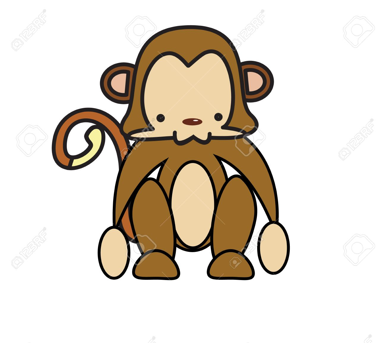 Animated baby monkey