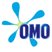 OMO logo, logotipo.