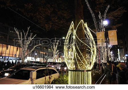 Stock Photo of Winter Lights at Omotesando, Omotesando H.I.S..
