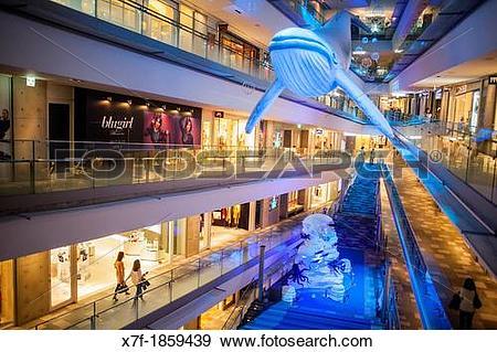 Stock Photograph of Interior of Omotesando Hills, shopping mall.