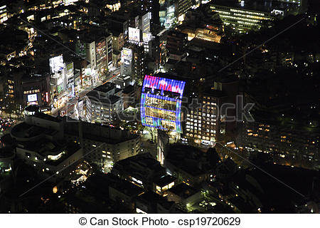 Stock Photo of Aerial view of Omotesando areas csp19720629.