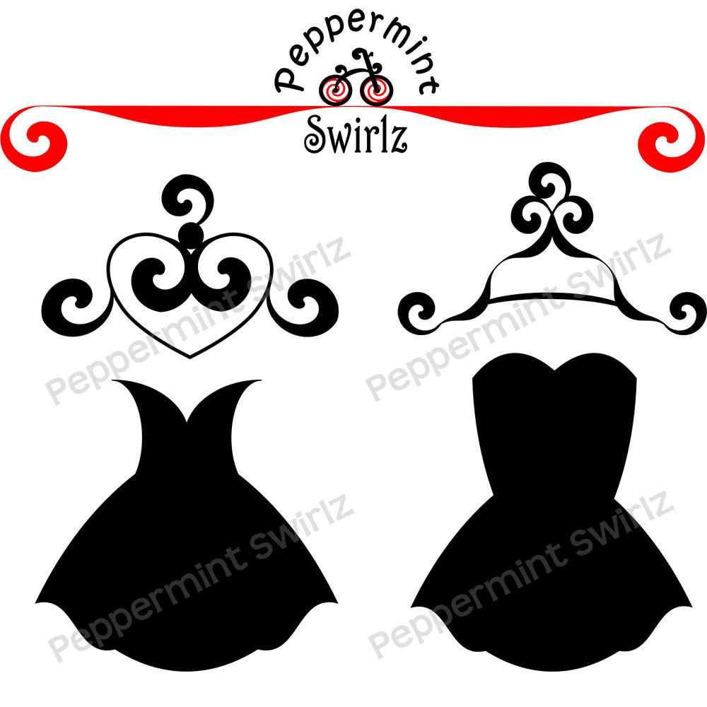Hanger Black And White Clipart.