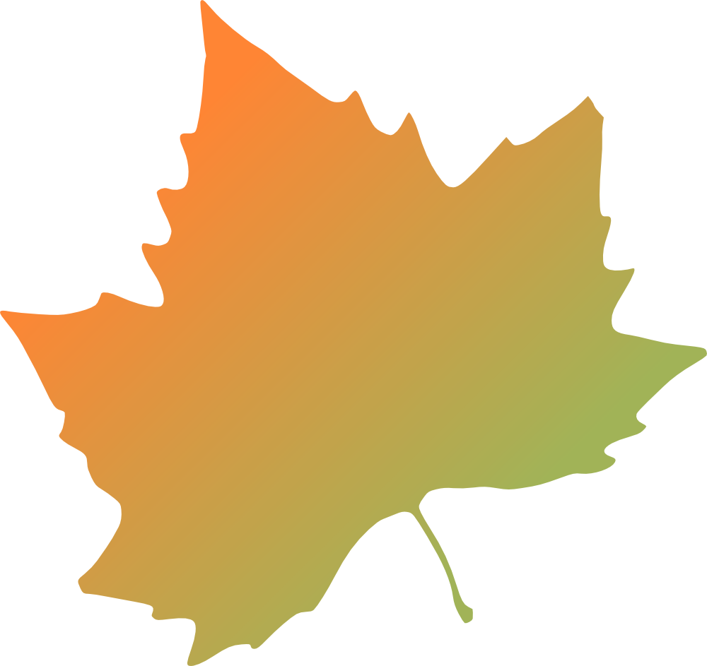 Yellow autumn leaves clipart.