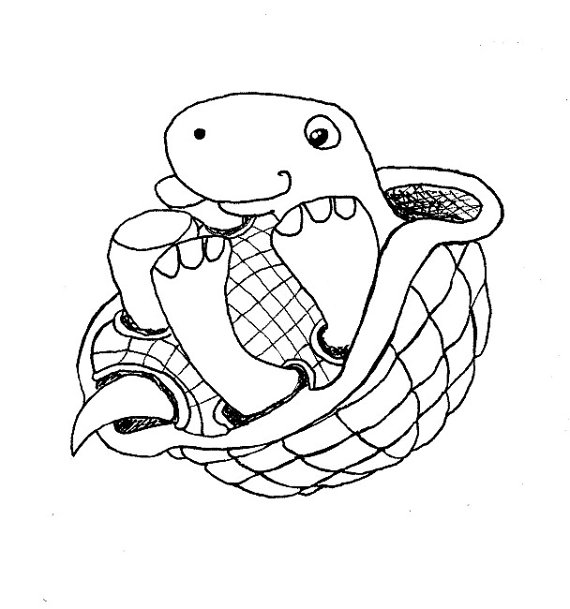 Turtle on its back clipart.