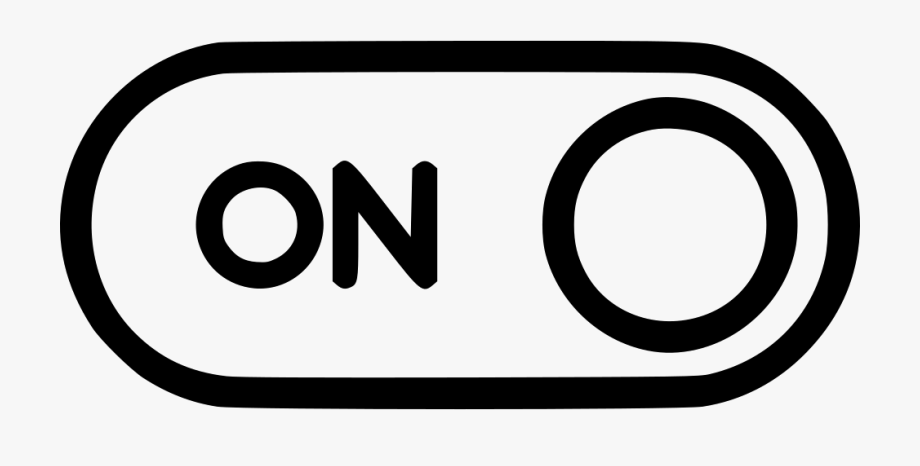 Button Switch Power Option Control Lever On Svg Png.