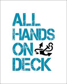 All hands on deck clipart art.