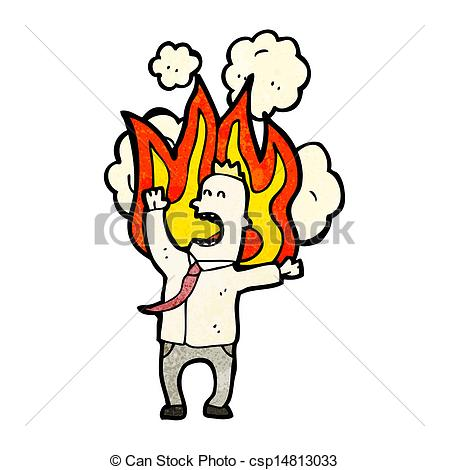 On fire clipart.