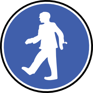 On Foot Clipart.