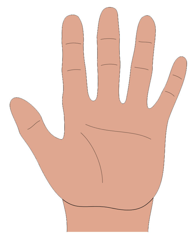 On hand clipart - Clipground