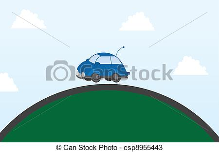 Top of the Hill Clip Art.