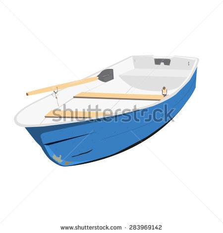 Blue Rowing Boat Stock Photos, Royalty.