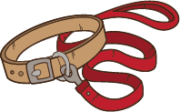 Dog Lead Clipart.
