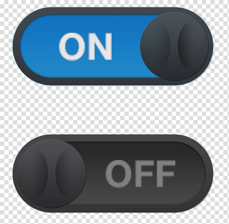 On and off switch logo, Switch Push.