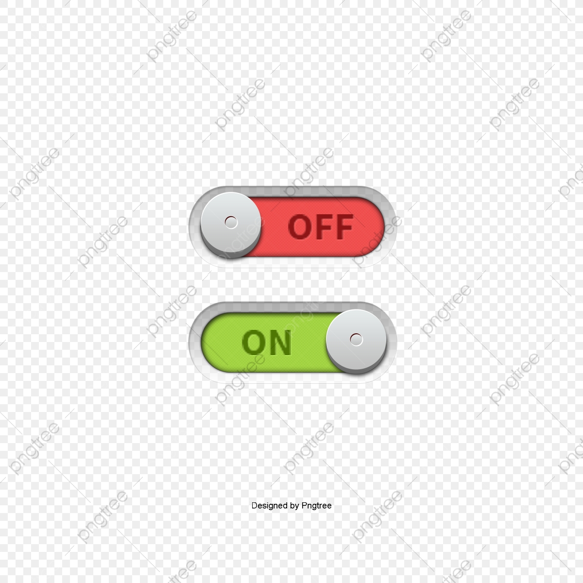 Onoff Switch Button Vector, Page Decoration, On, Off PNG.