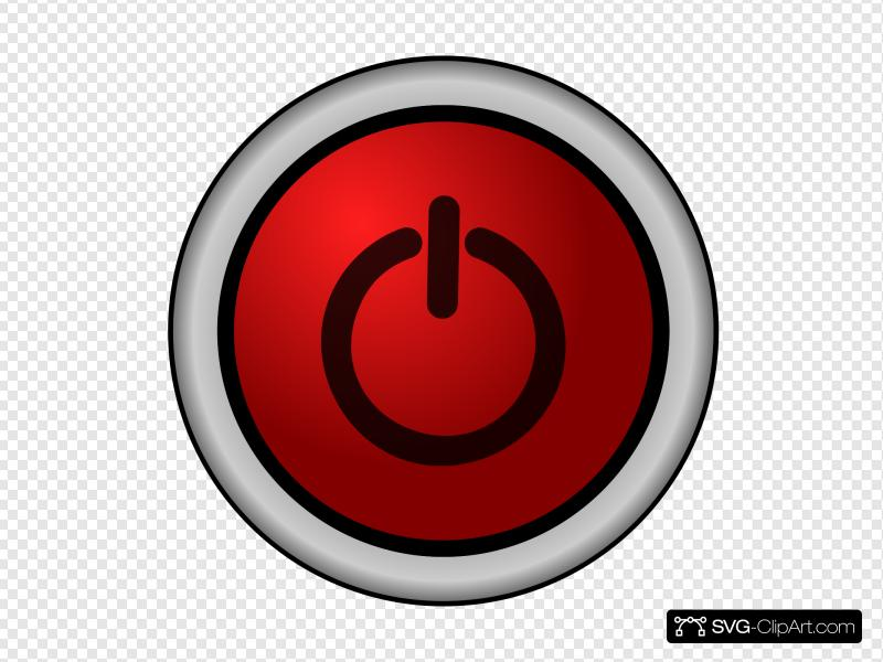 Power On Off Switch Red Clip art, Icon and SVG.